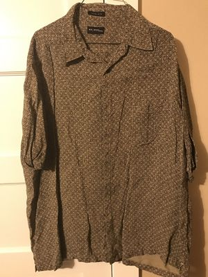***AXCEES MEN SHORT SLEEVE BUTTON UP SHIRT 100% SILK SIZE LARGE*** for Sale in Portland, OR