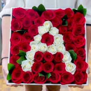 Custom Fresh Rose Letter Box Arrangement for Sale in Los Angeles, CA
