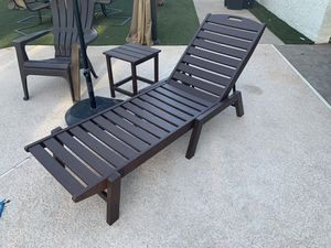 POLYWOOD brand outdoor pool chaise lounge and side table patio set for Sale in Seattle, WA