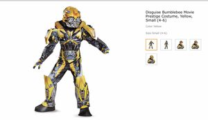 Deluxe Bumblebee Transformer Costume Size 4-6 for Sale in Schaumburg, IL