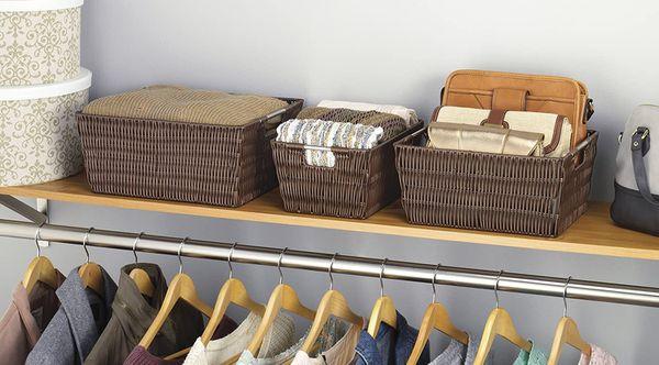 Set of 3 JAVA Storage Baskets Kitchen Bedroom Organizer
