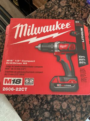 Milwaukee M18 drill/ driver kit for Sale in Attleboro, MA