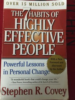 7 Habits Of Highly Effective People Softcover Book for Sale in Jacksonville,  IL