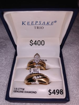 Gold 10k wedding sets and ring's for Sale in Ceres, CA