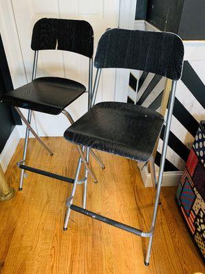 2 Folding IKEA bar stools for Sale in New York, NY