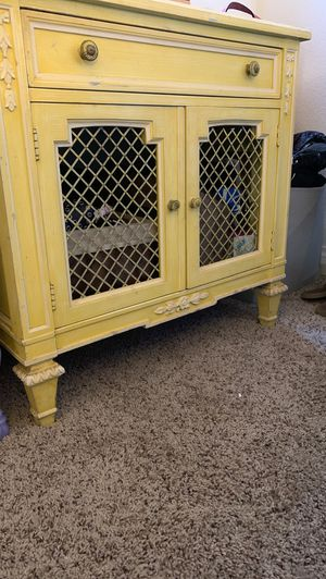 Antique cabinet - yellow for Sale in Costa Mesa, CA
