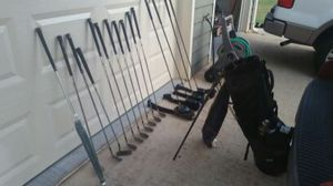 Gold bag and clubs for Sale in Powder Springs, GA
