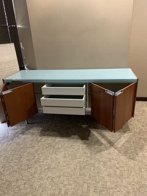Glass topped credenza or sideboard for Sale in Seattle, WA