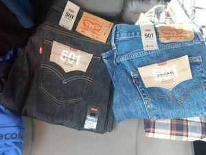 2xl Levi's and Van's t shirts. 36'32's Levi's 501s for Sale in Lake Elsinore, CA