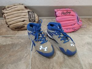 Kids Baseball gloves & shoes size 13 for Sale in Portland, OR