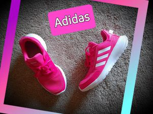 Adidas HOT pink and white for Sale in Linden, MI