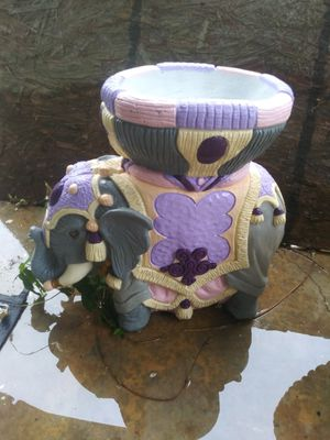 Fancy Hand-Painted Concrete Elephant Planter for Sale in Phenix, VA