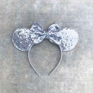 Mickey Mouse Handmade Sequin Ears in Silver for Sale in Palo Alto, CA