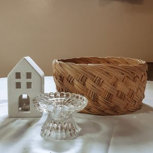 small glass candlestick holder for Sale in Provo, UT