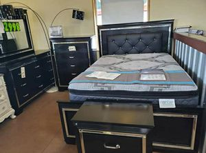 🆕️ Best  OFFER   🍻🍾 Allura Black LED Panel Bedroom Set 1969 for Sale in Jessup, MD