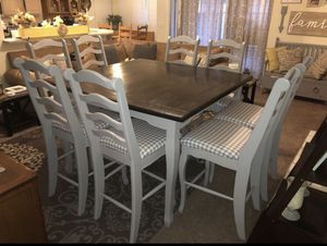 Farmhouse high top kitchen table and 8 chairs. $500OBO for Sale in Surprise, AZ