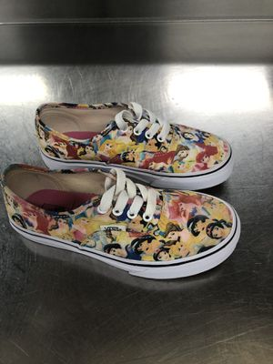 PRE-OWNED IN EXCELLENT CONDITION DISNEY VANS SHOES SIZE-2 YOUTH for Sale in Jessup, MD
