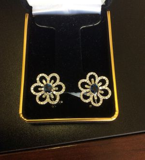 18k gold and diamond earrings for Sale in Beverly Hills, CA