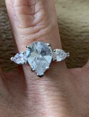New CZ 2.5 kt sterling silver 925 wedding ring size 7 for Sale in Palatine, IL
