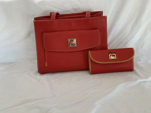 Dooney and Burke Ruby red handbag and wallet for Sale in Surprise, AZ