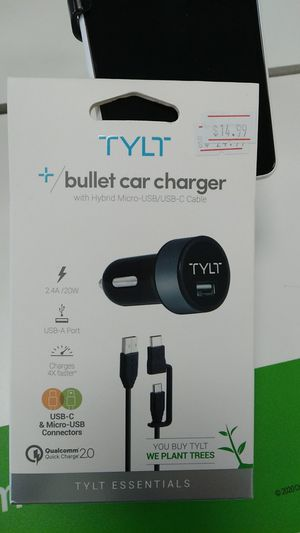 TYLT Bullet car charget for Sale in San Angelo, TX