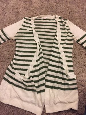 olive green and white striped cardigan for Sale in Tacoma, WA