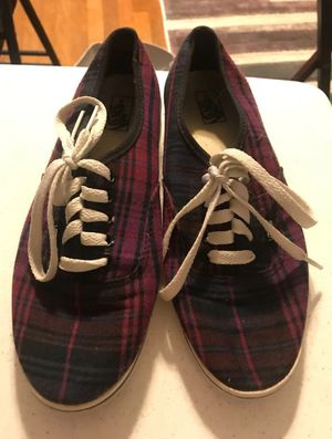 Vans plaid off the wall size 8.5 wen 7 men for Sale in Diamondhead, MS