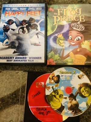 Happy Feet, Frog Prince, Shrek 2, Shrek 3 for Sale in Clermont, FL