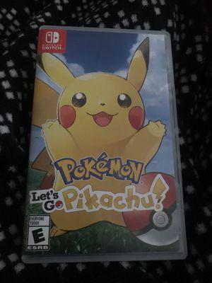 Pokémon let's go Pikachu Nintendo Switch game for Sale in Merritt Island, FL