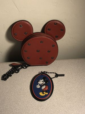 New Coach Disney Mickey Mouse Coin Purse and Tag (Pickup Only) for Sale in Tucson, AZ