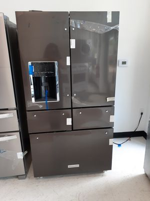 KitchenAid stainless steel 5-doors French door refrigerator new with 6 months warranty for Sale in Mount Rainier, MD