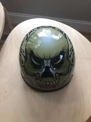 Motorcycle Helmet Barely Used Skull Design for Sale in Efland, NC
