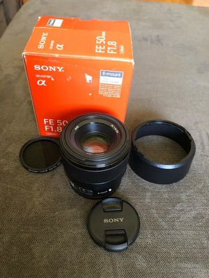 Sony FE 50mm f1.8 Lens With Variable ND filter for Sale in Kirkland, WA
