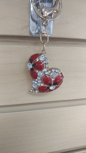 Jeweled Heart Keychain ( NEW ) purse charm for Sale in Holladay, UT