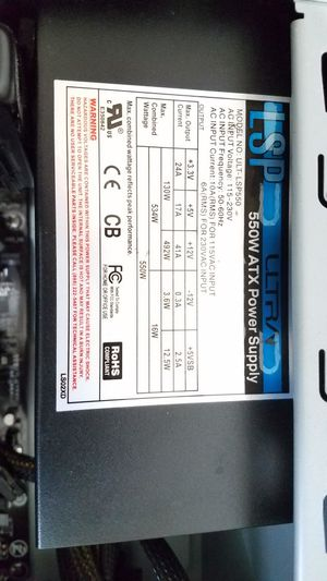 LSP ultra 550W Power Supply for Desktop PC for Sale in San Diego, CA