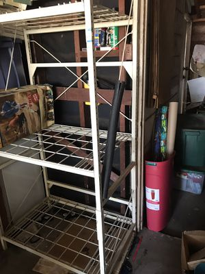 3 tier shelve metal for stock pile for Sale in West Covina, CA