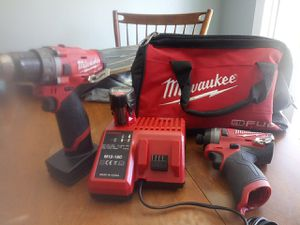 2 Milwalkee fuel impact drills 1 Milwaukee Hackzall with 1 tool bag for Sale in Everett, WA