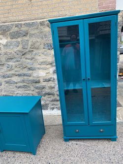 Beautiful hand painted Cabinet Turquoise for Sale in Philadelphia,  PA