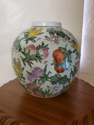 """9 """"GINGER JAR PEACHES IN FLOWERS VASE, NO LID for Sale in Miami, FL"""