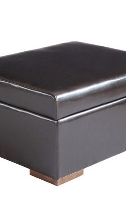 $220 OBO Foldaway Bed Ottoman Sleeper Faux Leather Single Size, Dark Espresso Brown for Sale in Seattle,  WA