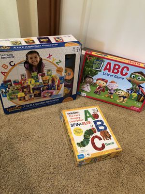 Alphabet learning games/toys-Great for homeschooling preschool for Sale in Snohomish, WA