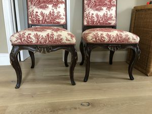 Antique chairs selling as a pair for Sale in Santa Monica, CA