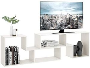 """New TV Console Stand, Modern Entertainment Center Media Stand, TV Table Storage Bookcase Shelf for Living Room, 0.59"""" Thick, White for Sale in New Brunswick, NJ"""