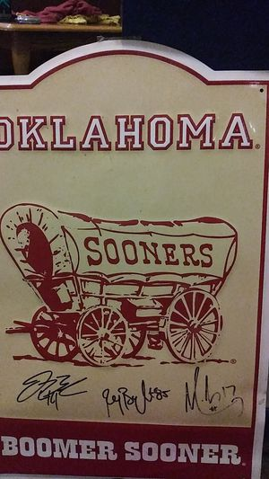 Autographed sooner sign for Sale in Oklahoma City, OK