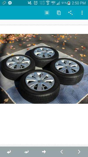 16 tires on steelie and vw hub for Sale in Harrisonburg, VA