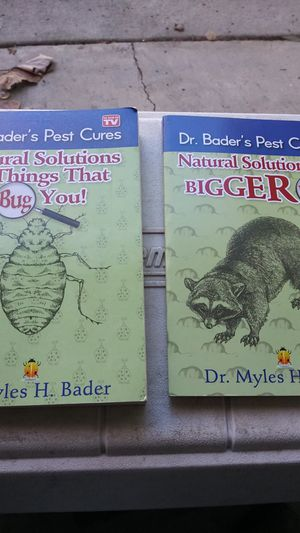 2 books on Natural solutions to bug control and bigger pests control. for Sale in Clermont, FL