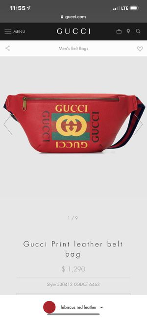 Gucci Belt Bag (Red) for Sale in New Britain, CT