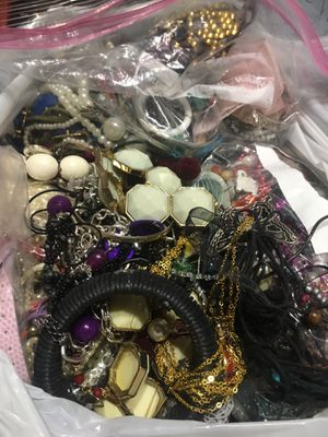 16+ pounds scrap lot for craft or remaking jewelry ... for Sale in Reading, PA