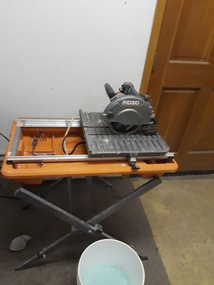Rigid wet tile saw with stand for Sale in Oakland, CA