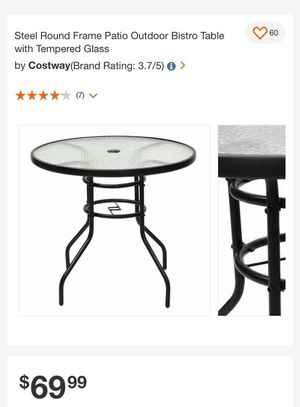 Patio tempered circular glass table for Sale in Rancho Cucamonga, CA
